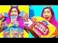 WOW! Giant Dubble Bubble Gum DIY!!! So Funny! (CC Available)