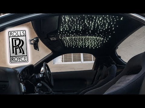 How To Install $12,000 ROLLS ROYCE STAR LIGHTS For LESS THAN $100!! (RHD RX7 FD)
