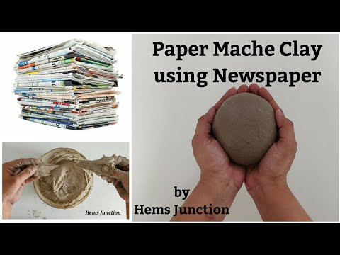 How to make Paper Mache Clay using Newspaper | Best Out of Waste | Paper Clay | Newspaper Clay
