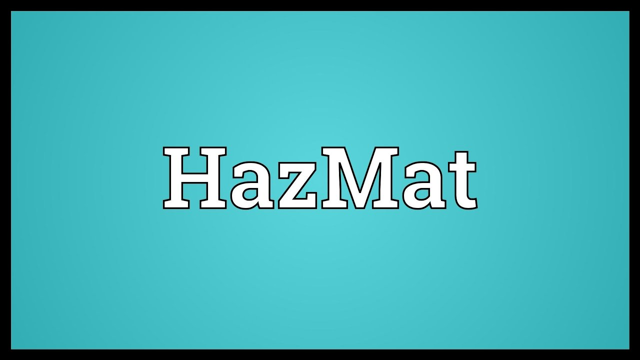 Hazmat meaning youtube hazmat meaning biocorpaavc Choice Image