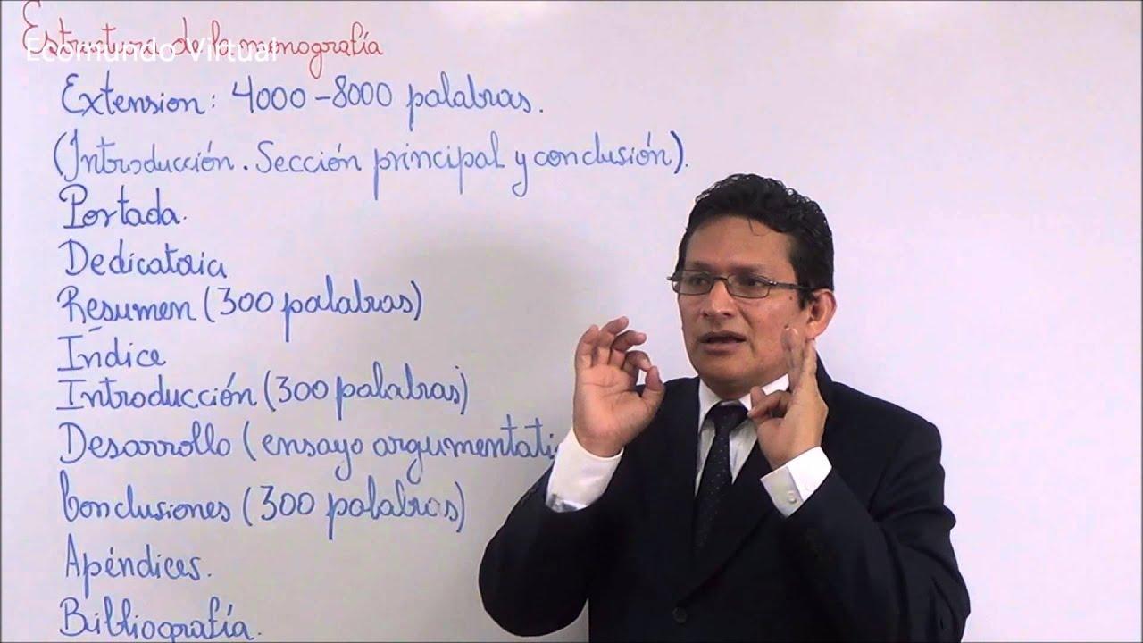 Monografía Y Su Estructura Elemental By Ecomundo Virtual