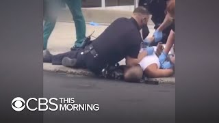 Allentown police investigating after officer places knee on man's neck