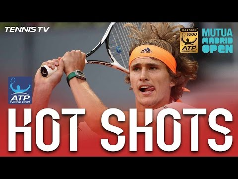 Hot Shot: Sascha Zverev Blasts Backhand Winner In Madrid 2017