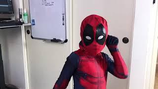 Mom made him a Ryan Reynolds Costume