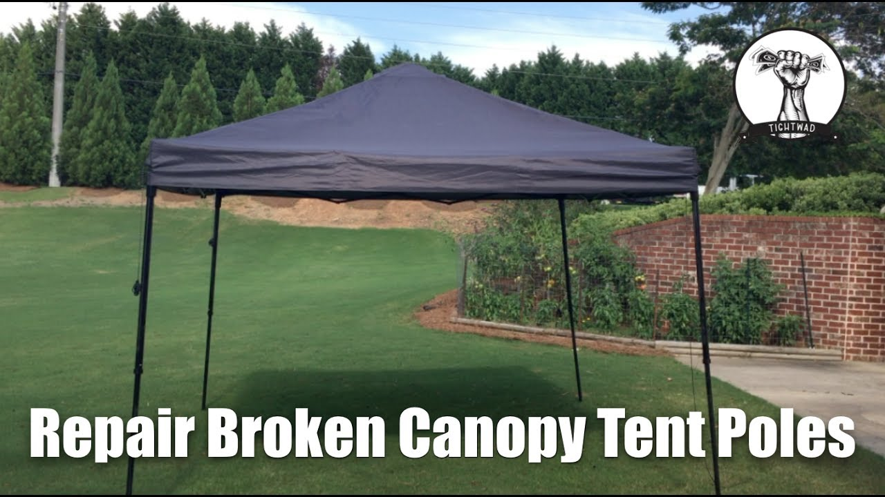 How To Permanently Repair Easy Up First Up Ozark Trails Canopy Tent Poles & How To: Permanently Repair Easy Up First Up Ozark Trails Canopy ...
