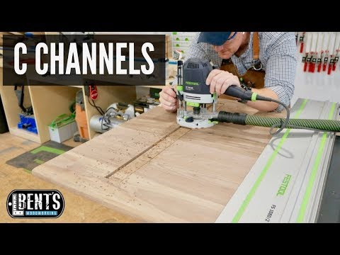 How To Install C Channels / Woodworking Tips