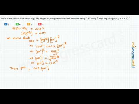 What Is The PH Value At Which Mg(OH)2 Begins To Precipitate