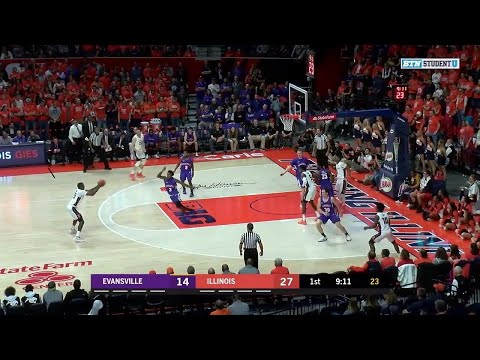 First Half Highlights: Evansville at Illinois | Big Ten Basketball