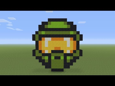 Minecraft Pixel Art - Master Chief Helmet