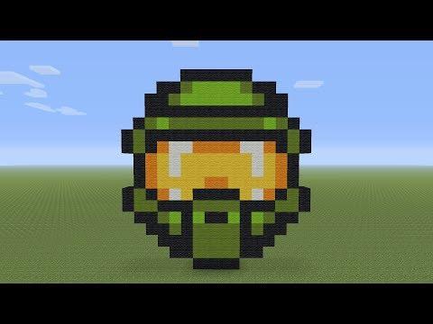 Minecraft Pixel Art - Master Chief Helmet