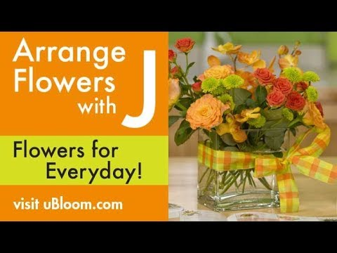 194 & How to create an Arrangement in a Glass Cube Vase!