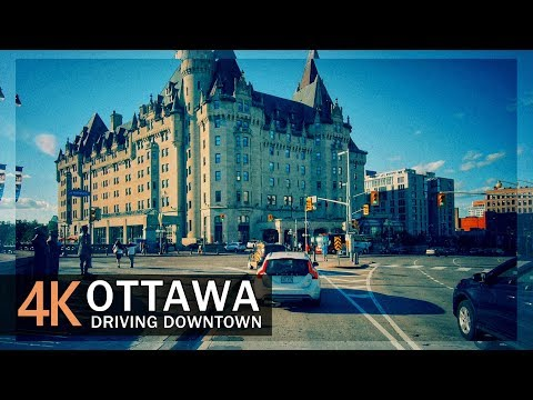 Ottawa 4K60fps - Driving Downtown - Ontario, Canada