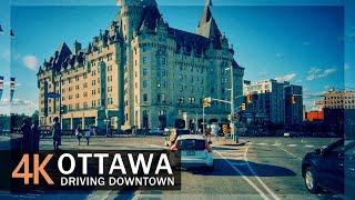 Ottawa 4K60fps - Driving Downtown - Ontario, Canada