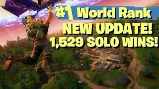 NEW MAP UPDATE - #1 WORLD RANKED 1529 SOLO WINS! - FORTNITE BATTLE ROYALE LIVE STREAM