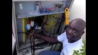 How to charge a a/c unit