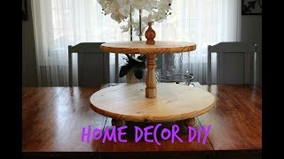 Home Decor DIY | Two Tier Wood Serving Tray
