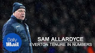 Sam Allardyce: Everton career in numbers after he's sacked - Daily Mail