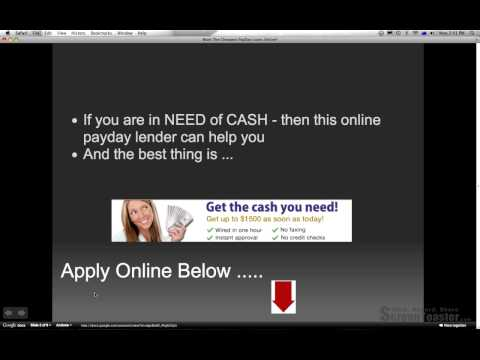 payday loan 1 hour deposit from YouTube · Duration:  51 seconds
