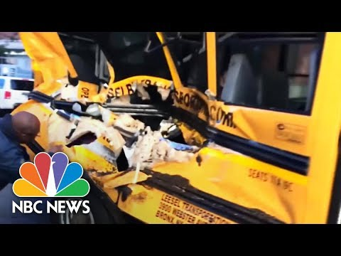 Bystander Captures School Bus 'Horror' After Manhattan Terror Attack | NBC News
