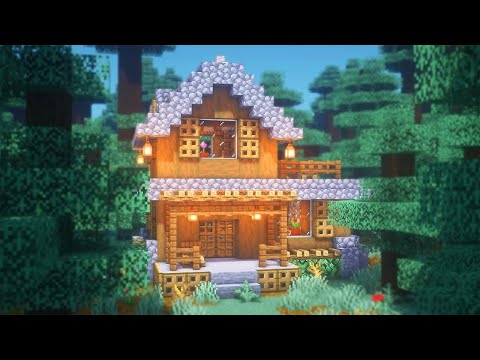 Minecraft: How To Build A Spruce Starter House
