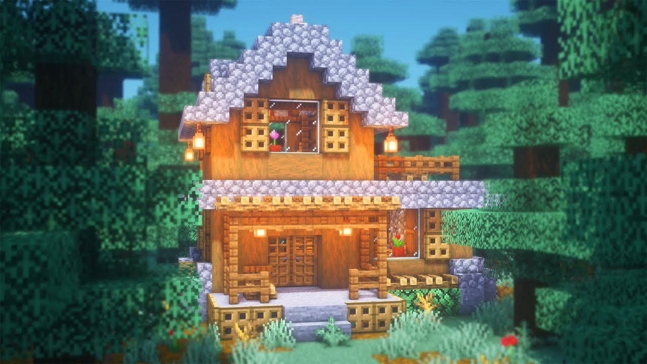 Minecraft: How to Build a Spruce Starter House  Simple Survival House  Tutorial