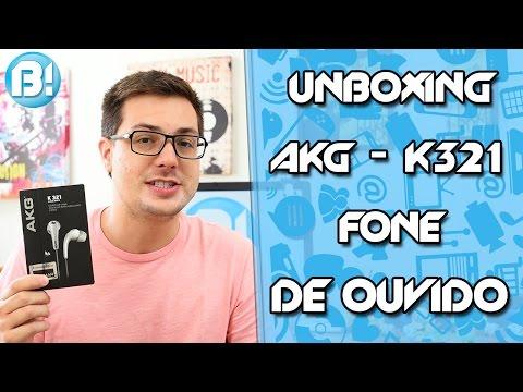 AKG K 321 - FONE DE OUVIDO IN EAR - UNBOXING !!