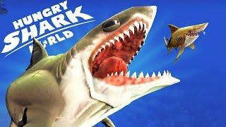 ГИГАНТСКИЙ МЕГАЛОДОН ПРОТИВ АКУЛ    Hungry Shark World