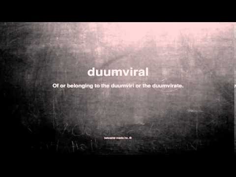 What does duumviral mean