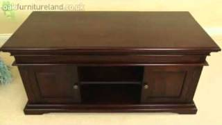 Louis Philippe Solid Mahogany Widescreen Tv Stand From Oak Furniture Land