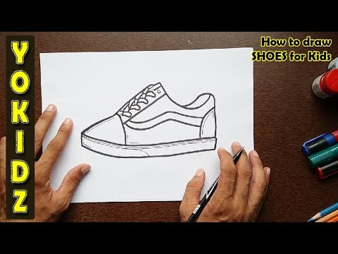 How to draw SHOES for kids , YouTube