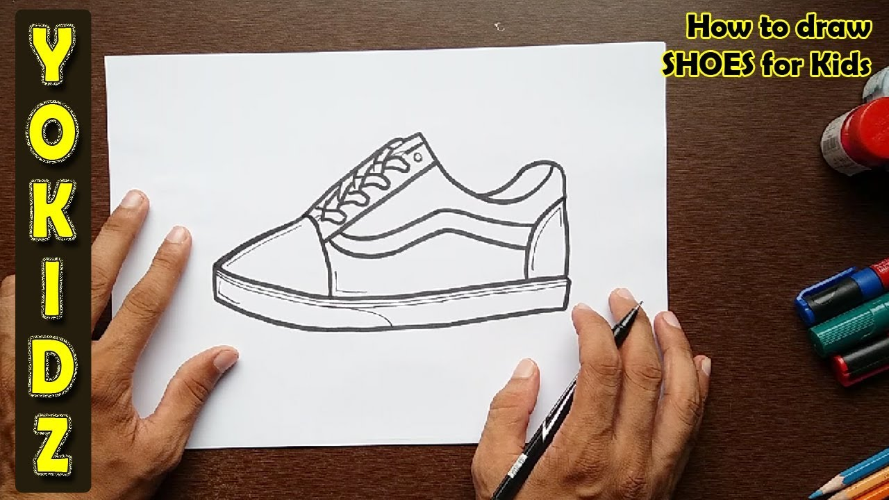 How To Draw Shoes For Kids Youtube