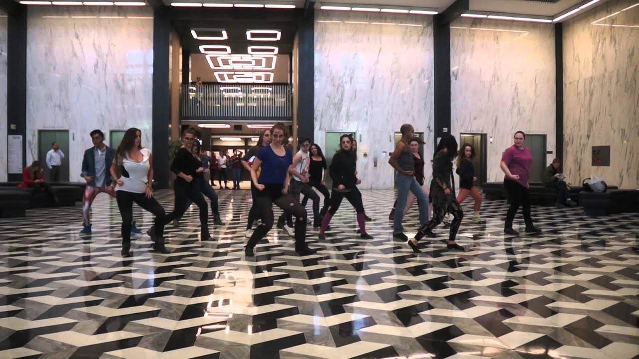 Bobst NYU Zombie Flash Mob