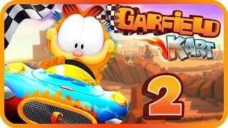 Garfield Kart Gameplay Part 2 (PC) Pizza Cup