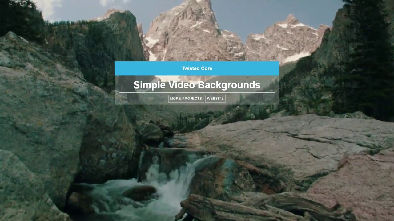 Fullscreen Video Backgrounds in CSS - Free Download - Twisted Core Tutorial