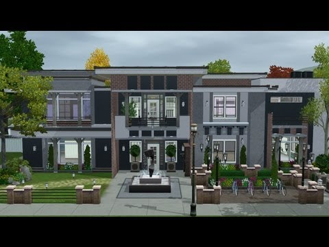 The Sims 3 - House Building - Chester Hall (dorm)