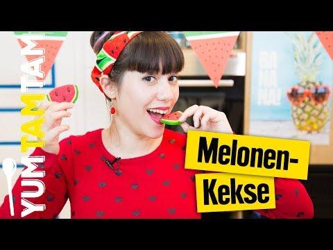 Wassermelonen-Cookies // Nationaler Tag der Wassermelone // #yumtamtam