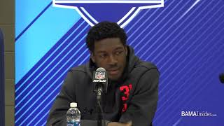 Calvin Ridley speaks to media at NFL Combine