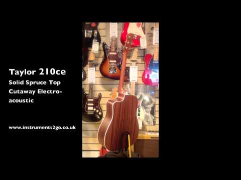 Taylor 210ce Electro Acoustic Cutaway 360º View