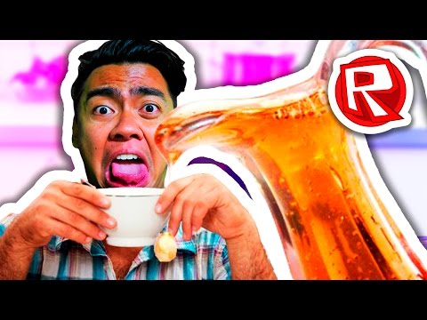 DRINKING A BOTTLE OF SYRUP?! | Roblox