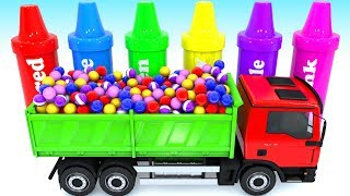 Learn colors with Crayons sorting and Truck coloring toy Learning videos for Kid