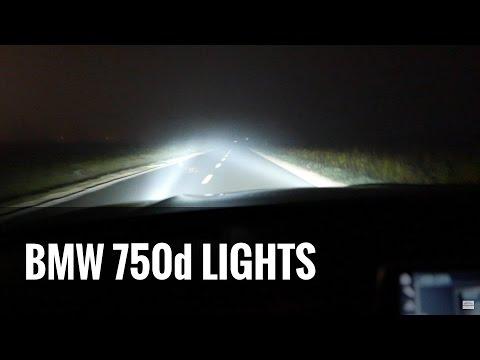 2017 BMW 7 Series G11 Lights Test 750d - PO CO KOMU 400 koni? ILE TO PALI?
