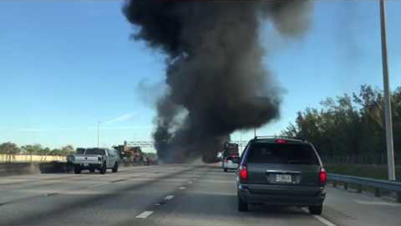 Accident on Florida's Turnpike || ViralHog