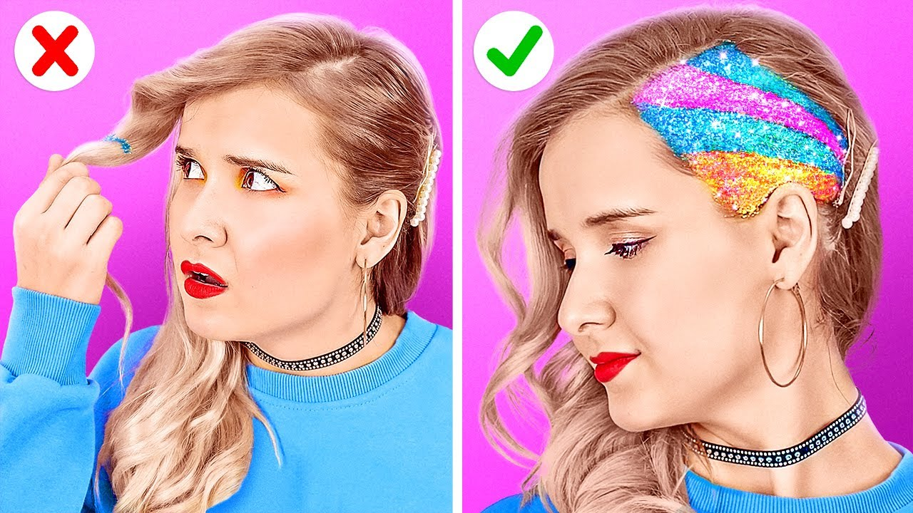COOL HAIR TRICKS AND HACKS   || DIYY Colorful Hair Hacks And Tips By 123 GO LIke!