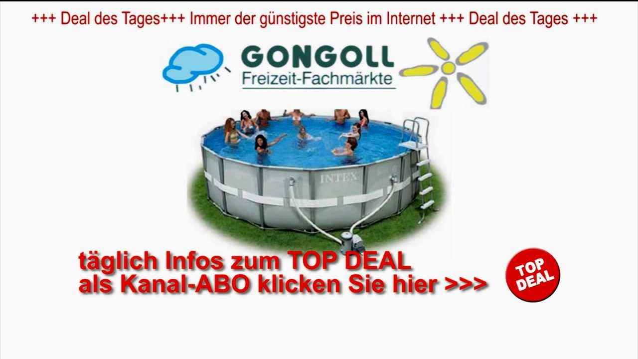 Pool Bodensauger Set Intex Ultra Metal Frame Pool Set 488x122cm