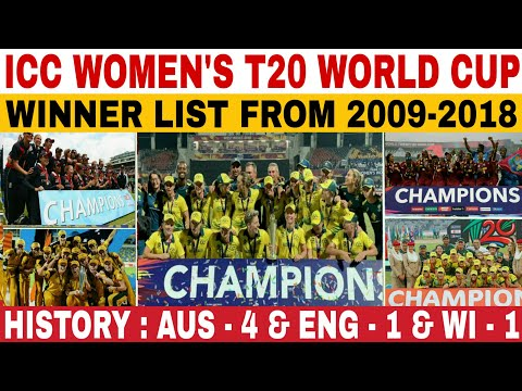 ICC WOMEN'S T20 WORLD CUP WINNER LIST FROM 2009 TO 2018 | WOMENS T20I WORLD CUP ALL WINNERS HISTORY