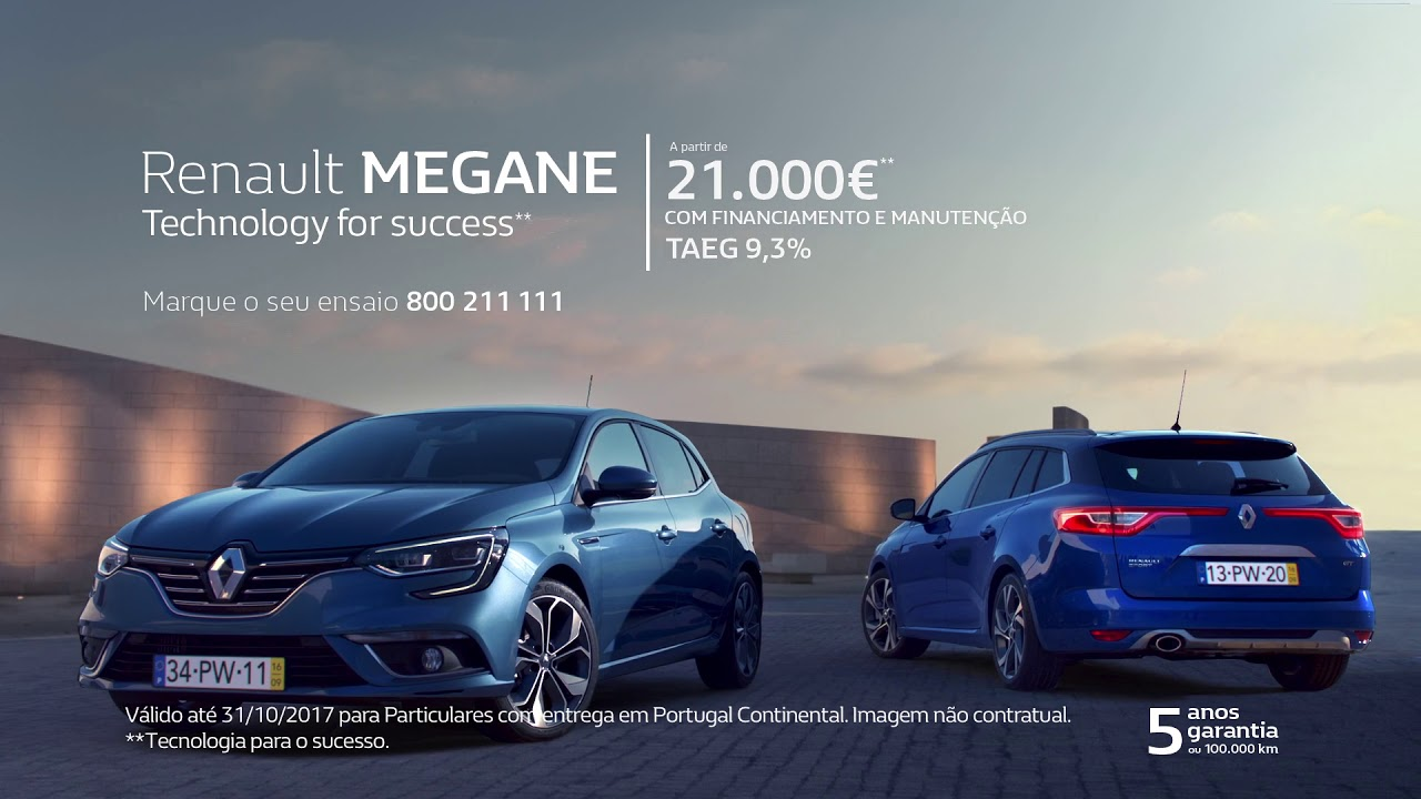c05ec6a6de Renault Mégane  Campanha financiamento - YouTube