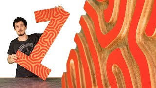 My Number 1 Project // CNC Wood Carving a Reaction Diffusion Pattern