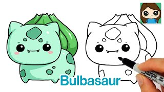 How to Draw Pokemon EASY Chibi #4 | Baby Bulbasaur