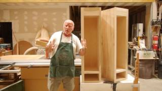 We discuss the 5 steps for properly building a quality cabinet box. Includes a tangent on a really great plywood rack.
