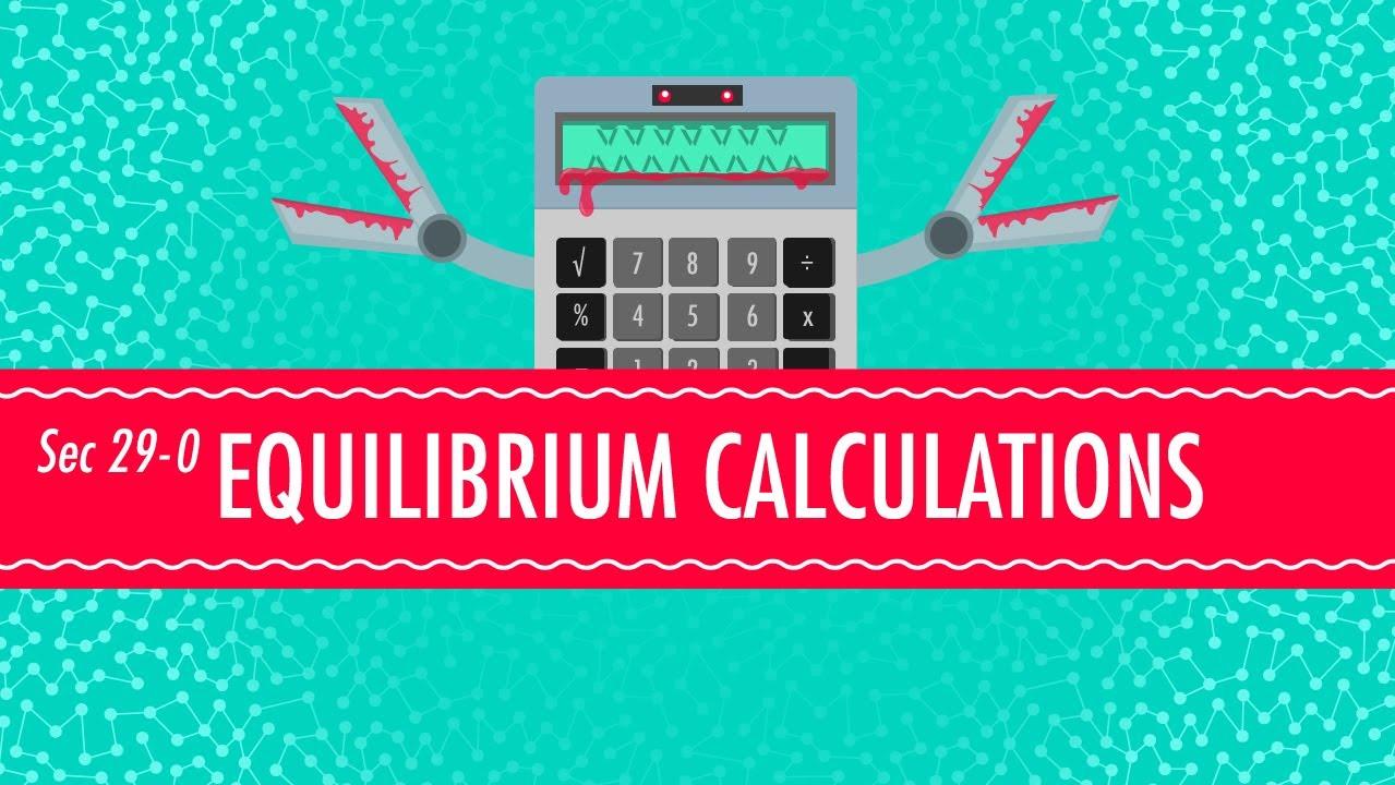 Equilibrium equations crash course chemistry 29 doovi for Chemistry reaction calculator fort de france